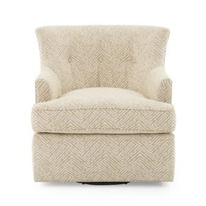 Transitional Swivel Chair with Tufted Back