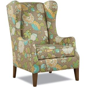 Traditional Wing Chair with Tapered Legs
