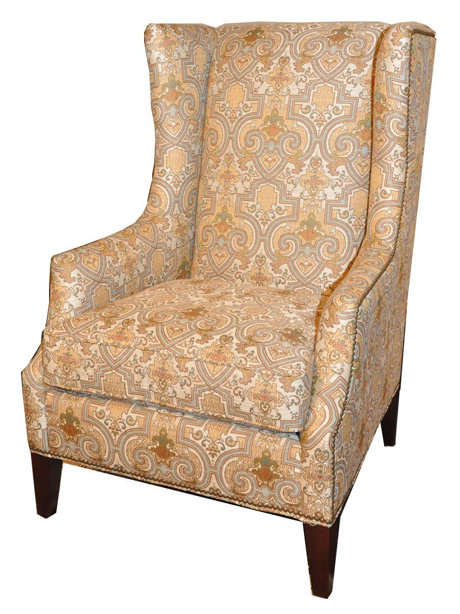 7445 Wing Chair by Geoffrey Alexander at Sprintz Furniture