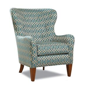 Traditional Wing Back Accent Chair with Tapered Legs