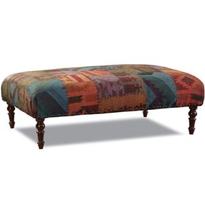 Traditional Ottoman with Turned Legs