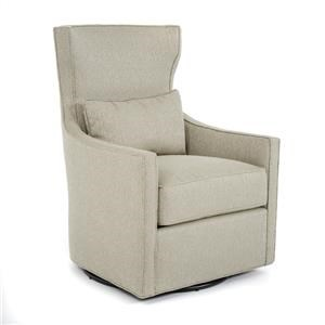 Swivel Chair with Nail Head Trim