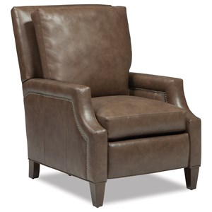 Power High Leg Recliner with Scooped Track Arms and Nailheads