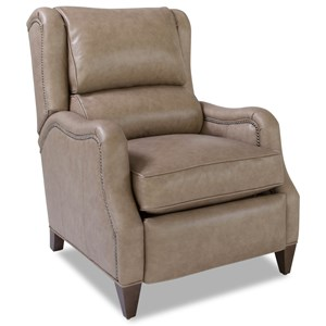 Transitional Power Recliner with Nailhead Trim