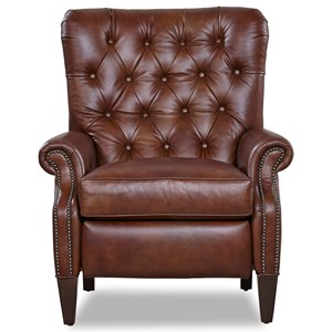 Traditional Power Recliner with Button Tufting