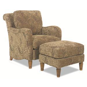 Huntington House 7073 Stationary Chair and Ottoman
