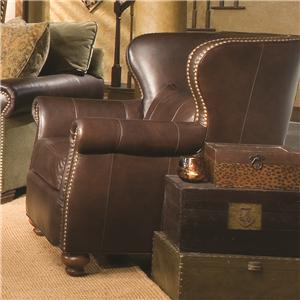 Traditional Wing Chair with Nailhead Trim