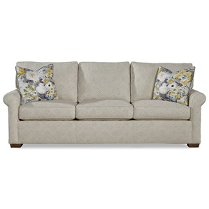 """Casual 89"""" Sofa with Sock Rolled Arms"""
