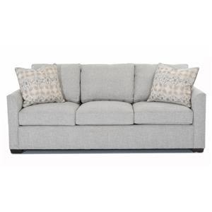 "Casual 84"" Sofa with Tuxedo Arms"