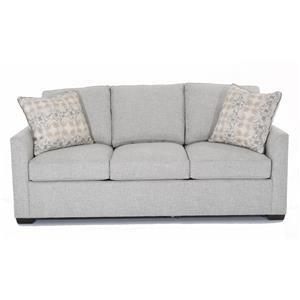 "Casual 84"" Sleeper Sofa with Tuxedo Arms"