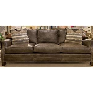 Eight-way Hand-Tied All Leather Sofa