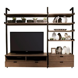 Media Stand with Shelves