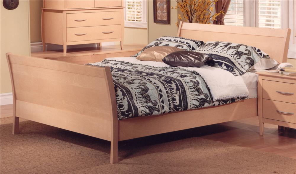 Nevada Queen Sleigh Bed by Huppe at Jacksonville Furniture Mart