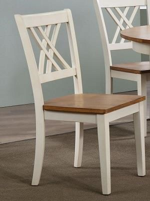 Caramel Biscotti x-back side chair by Iconic Furniture Co. at Dinette Depot