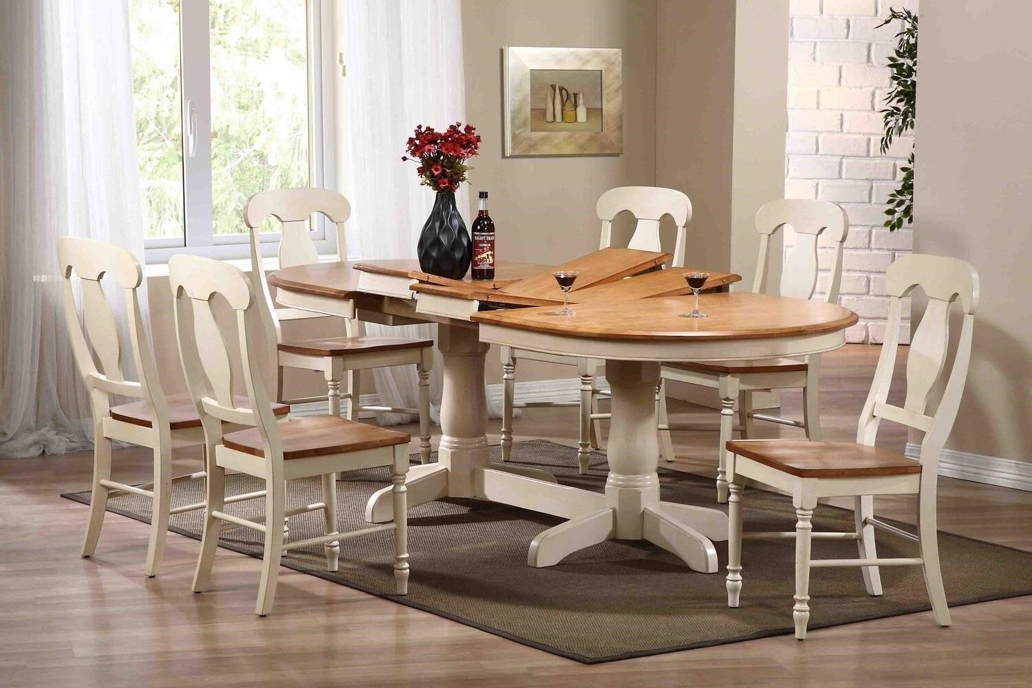 Caramel Biscotti 7 piece dining set by Iconic Furniture Co. at Dinette Depot
