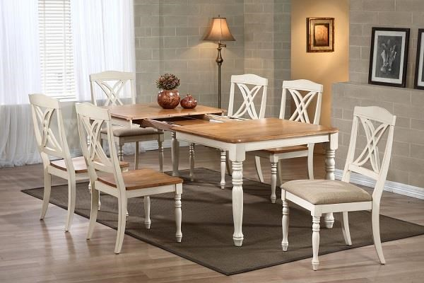 Caramel Biscotti 7 piece set by Iconic Furniture Co. at Dinette Depot