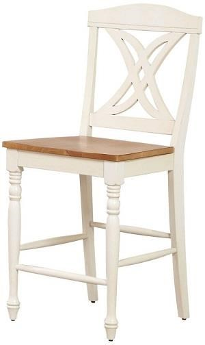 Caramel Biscotti Butterfly back 24 stool by Iconic Furniture Co. at Dinette Depot