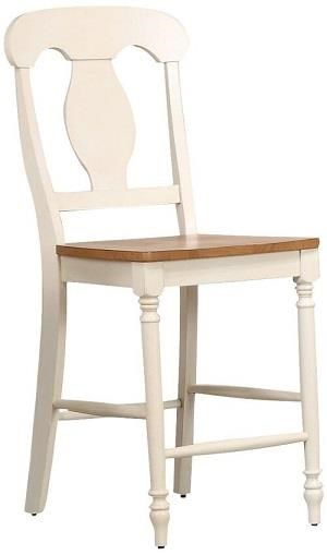 Caramel Biscotti Napoleon counter stool by Iconic Furniture Co. at Dinette Depot