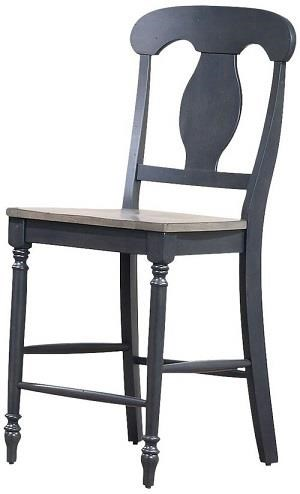 Grey stone Black stone counter stool by Iconic Furniture Co. at Dinette Depot