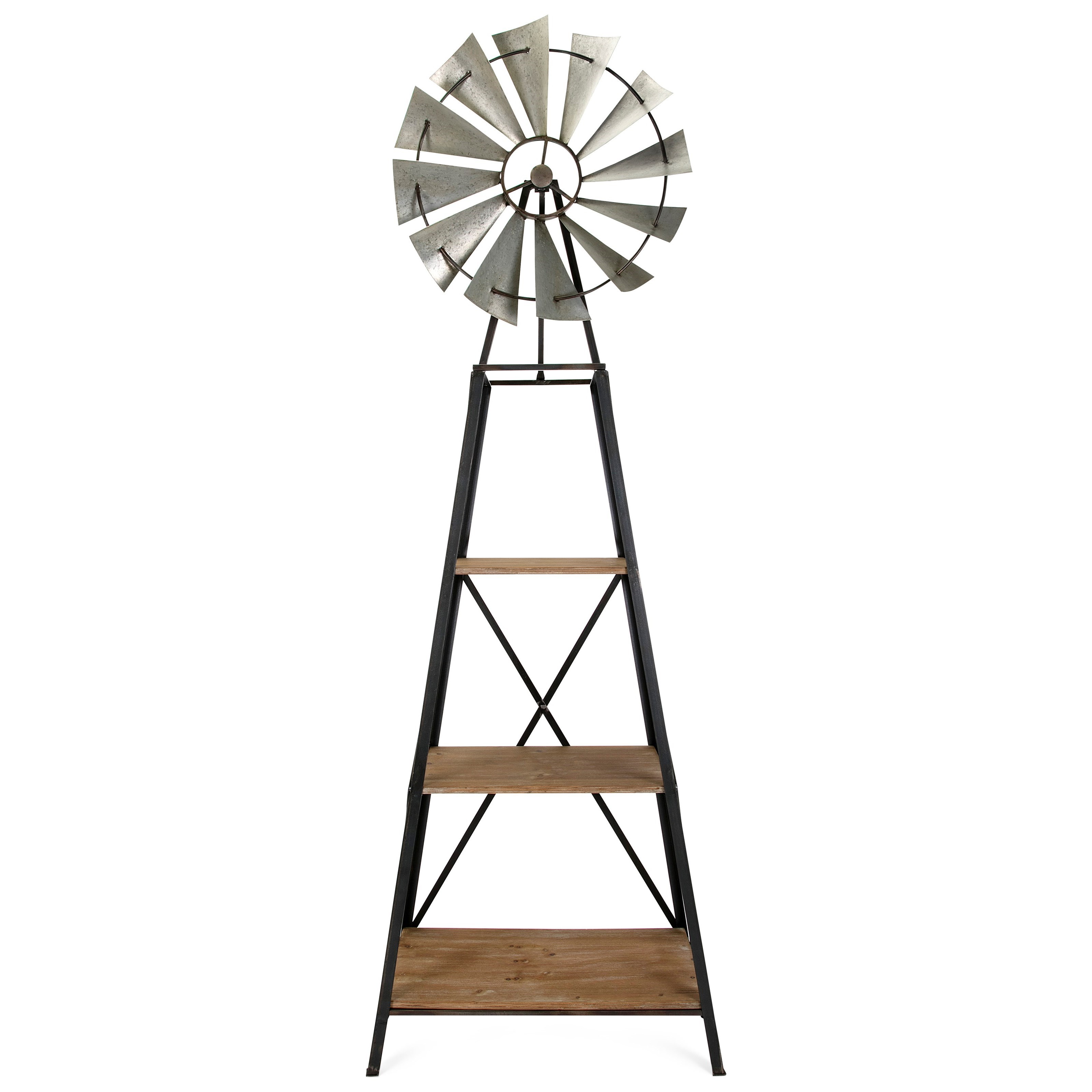 Accent Furniture Windmill Bookshelf by IMAX Worldwide Home at Alison Craig Home Furnishings