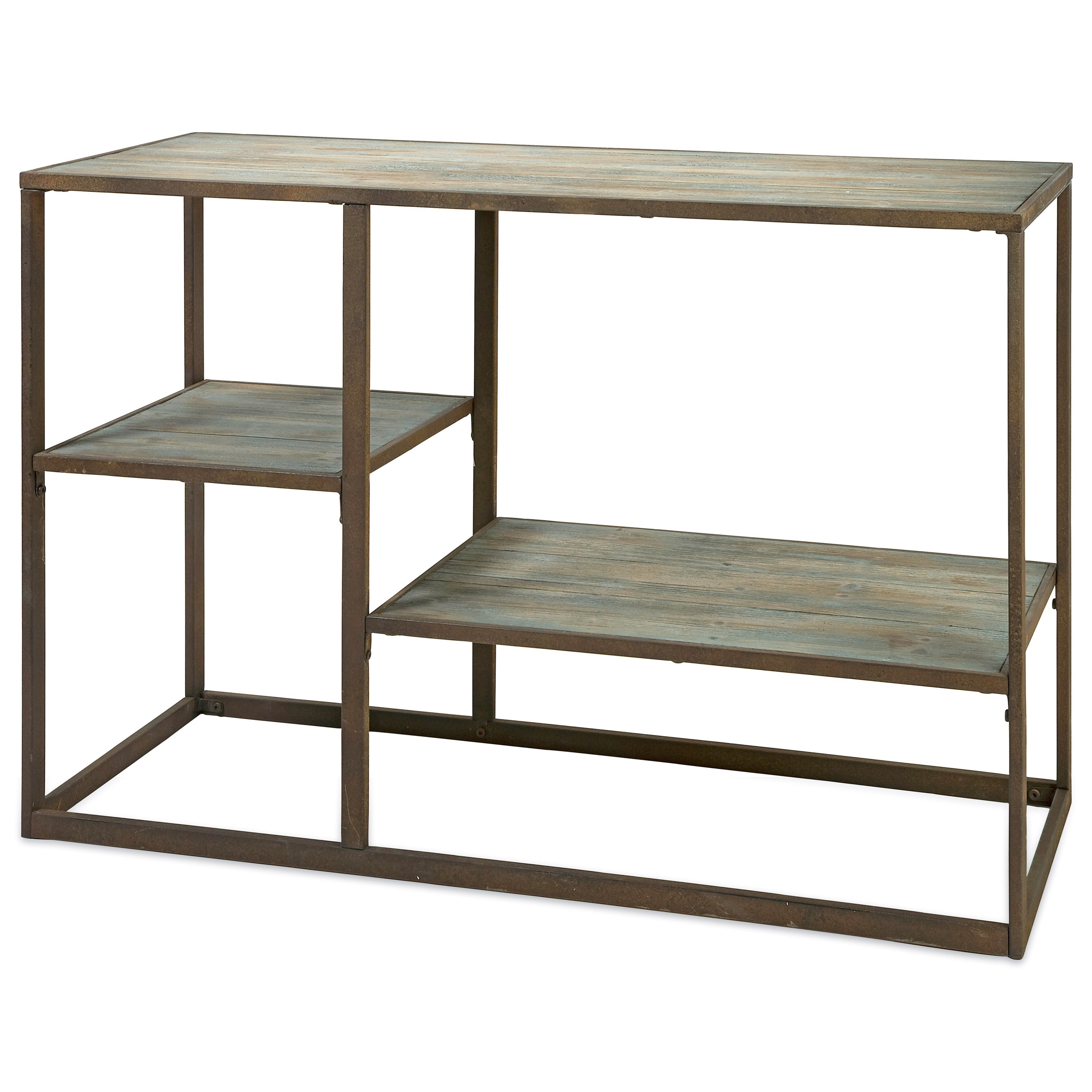 Accent Furniture Jestlin Wood and Iron Shelf by IMAX Worldwide Home at Alison Craig Home Furnishings