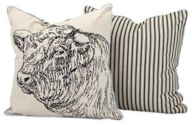 Jackson Bull Pillow