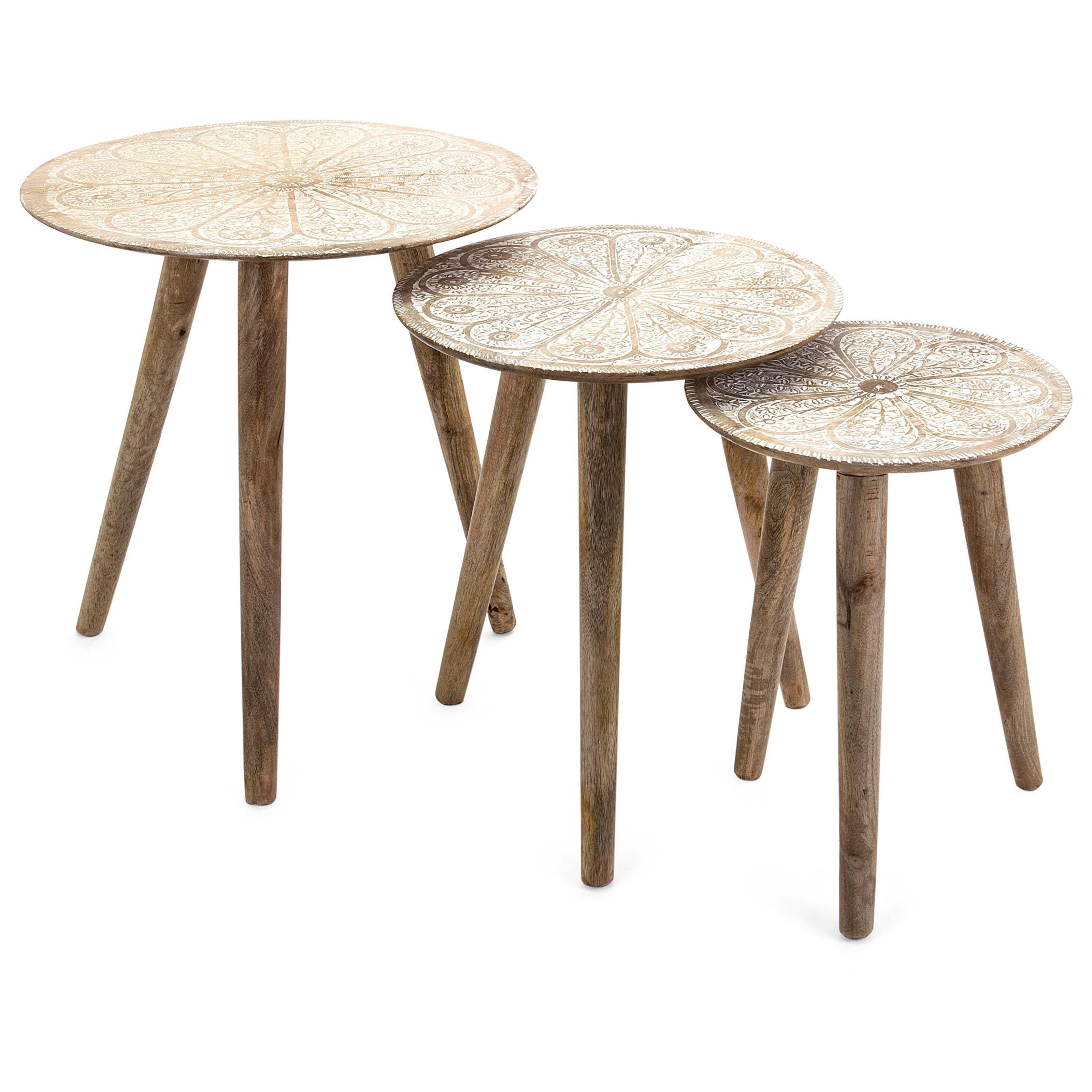 Accent Tables and Cabinets Cashel Round Tables - Set of 3 by IMAX Worldwide Home at Alison Craig Home Furnishings