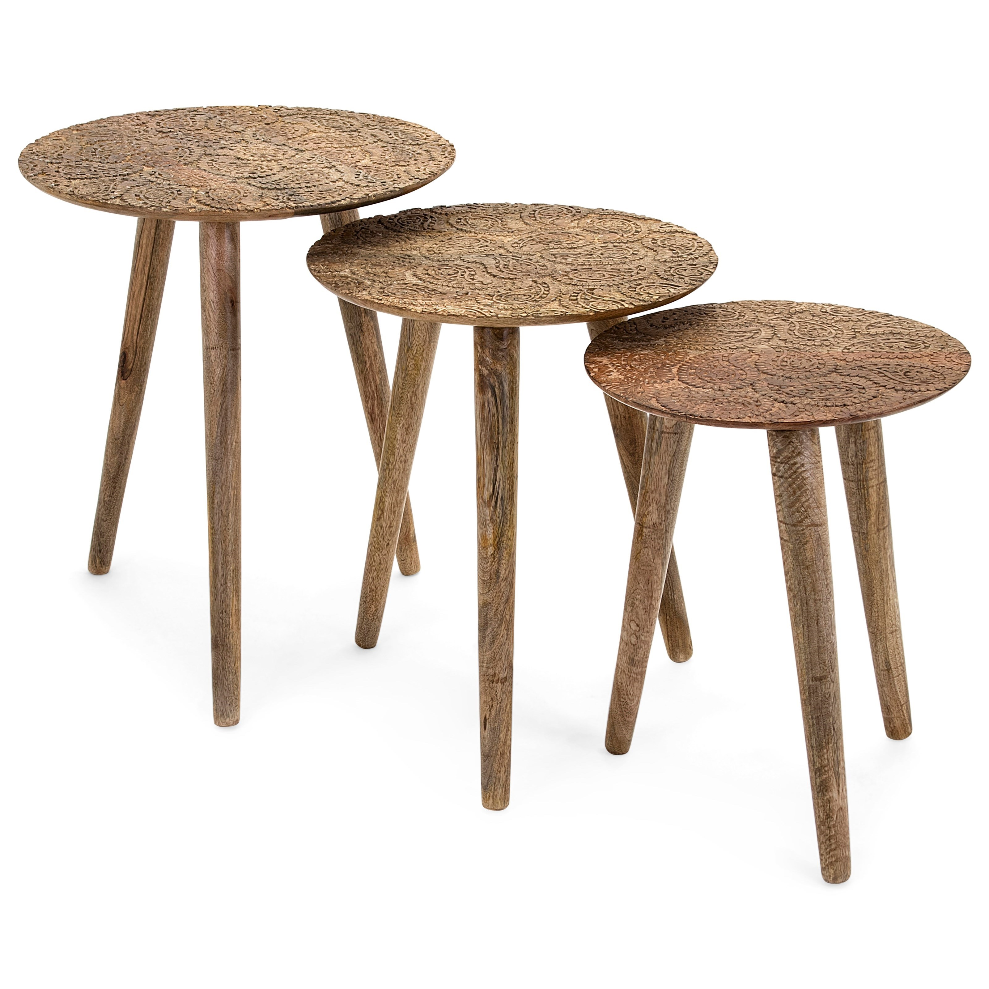 Accent Tables and Cabinets Inigo Round Tables - Set of 3 by IMAX Worldwide Home at Alison Craig Home Furnishings