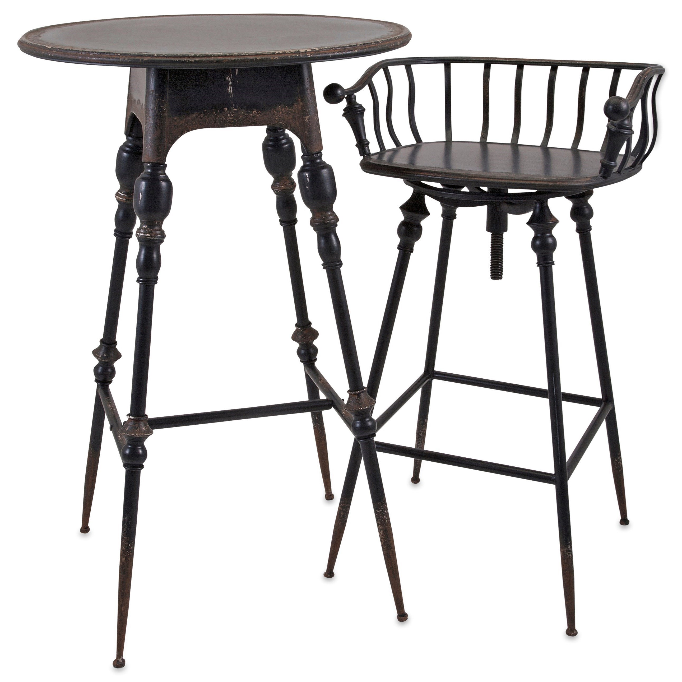 Accent Tables and Cabinets Crestly Metal Bar Table by IMAX Worldwide Home at Alison Craig Home Furnishings