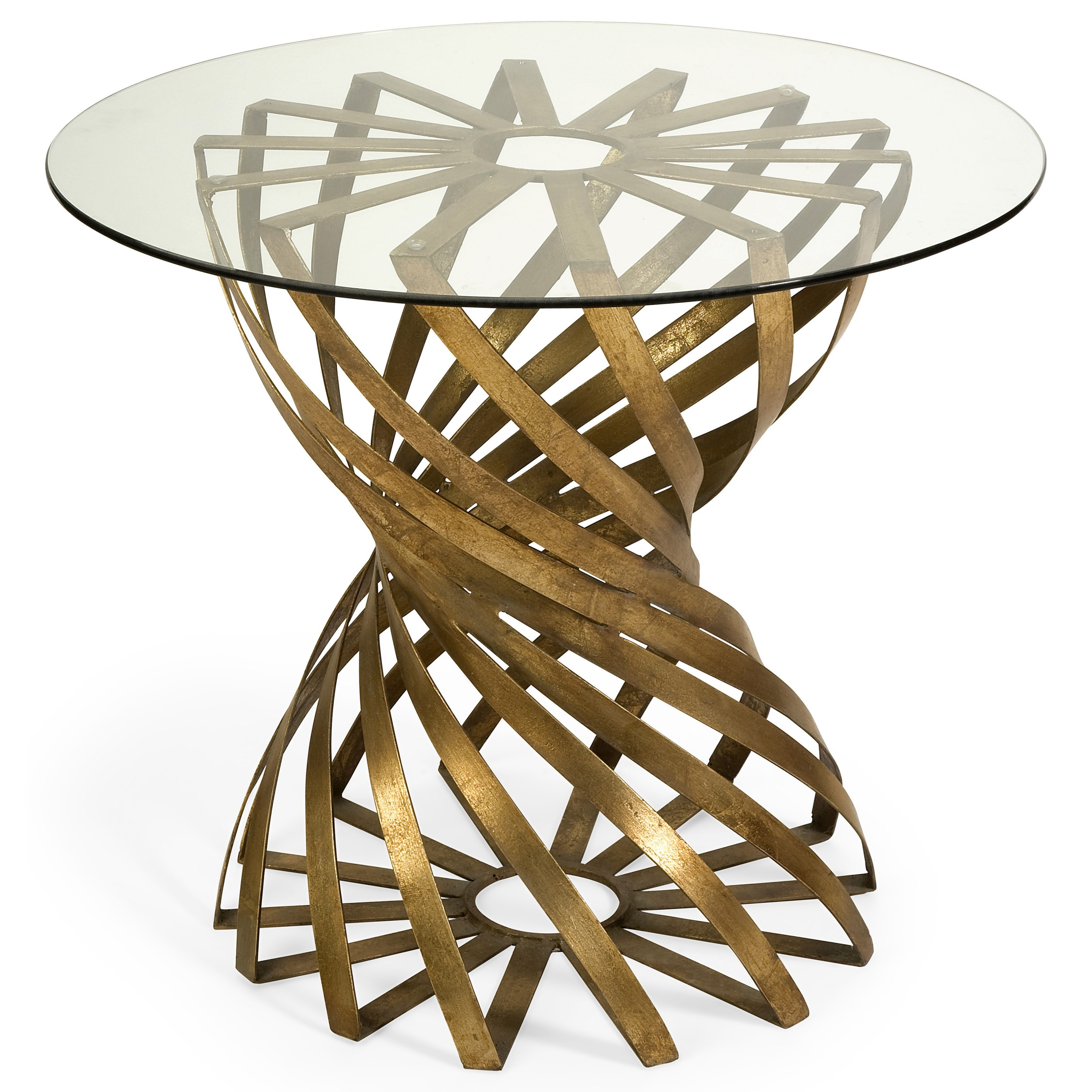 Accent Tables and Cabinets Marceau Accent Table with Glass Top by IMAX Worldwide Home at Alison Craig Home Furnishings
