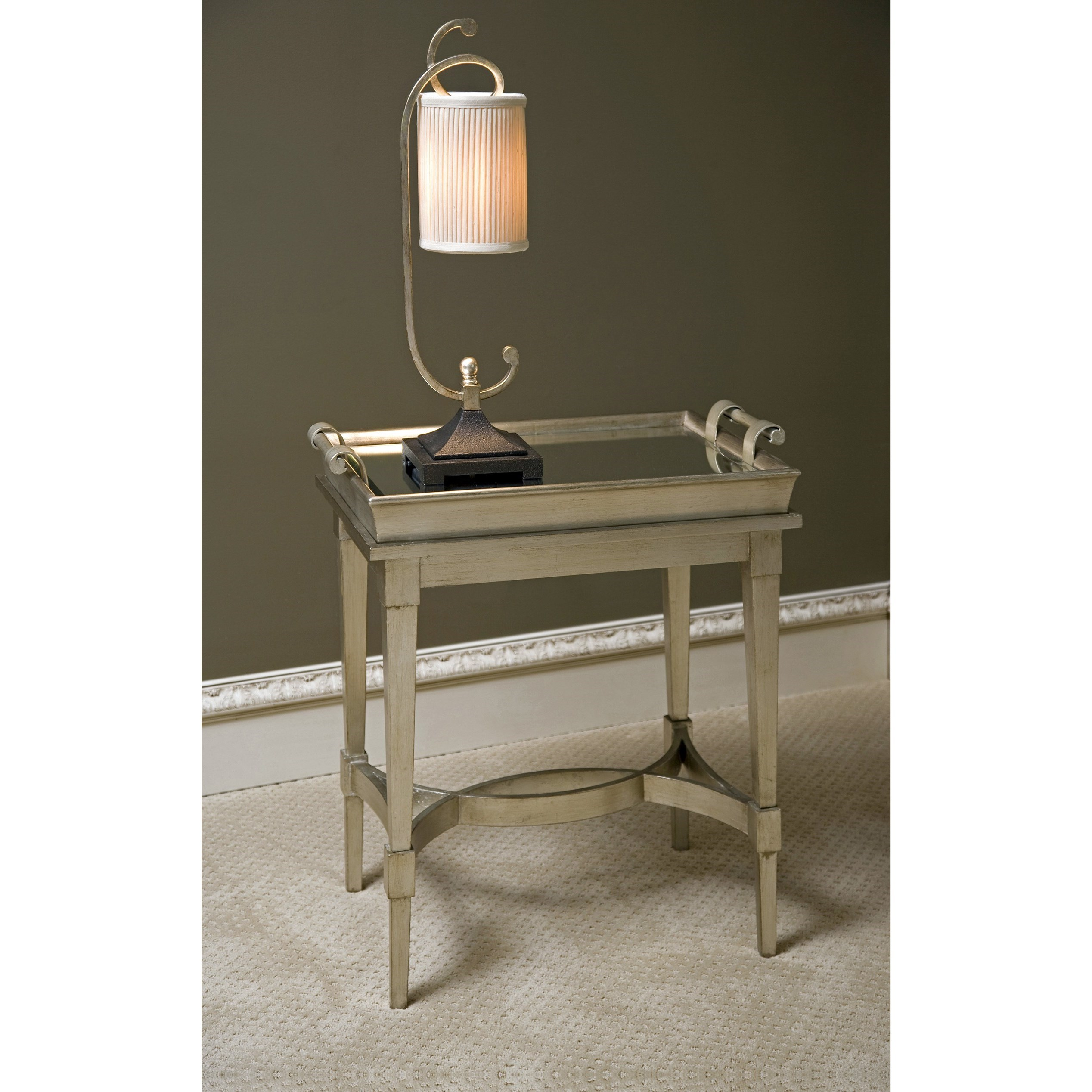 Accent Tables and Cabinets Luna Tray Top Table by IMAX Worldwide Home at Alison Craig Home Furnishings