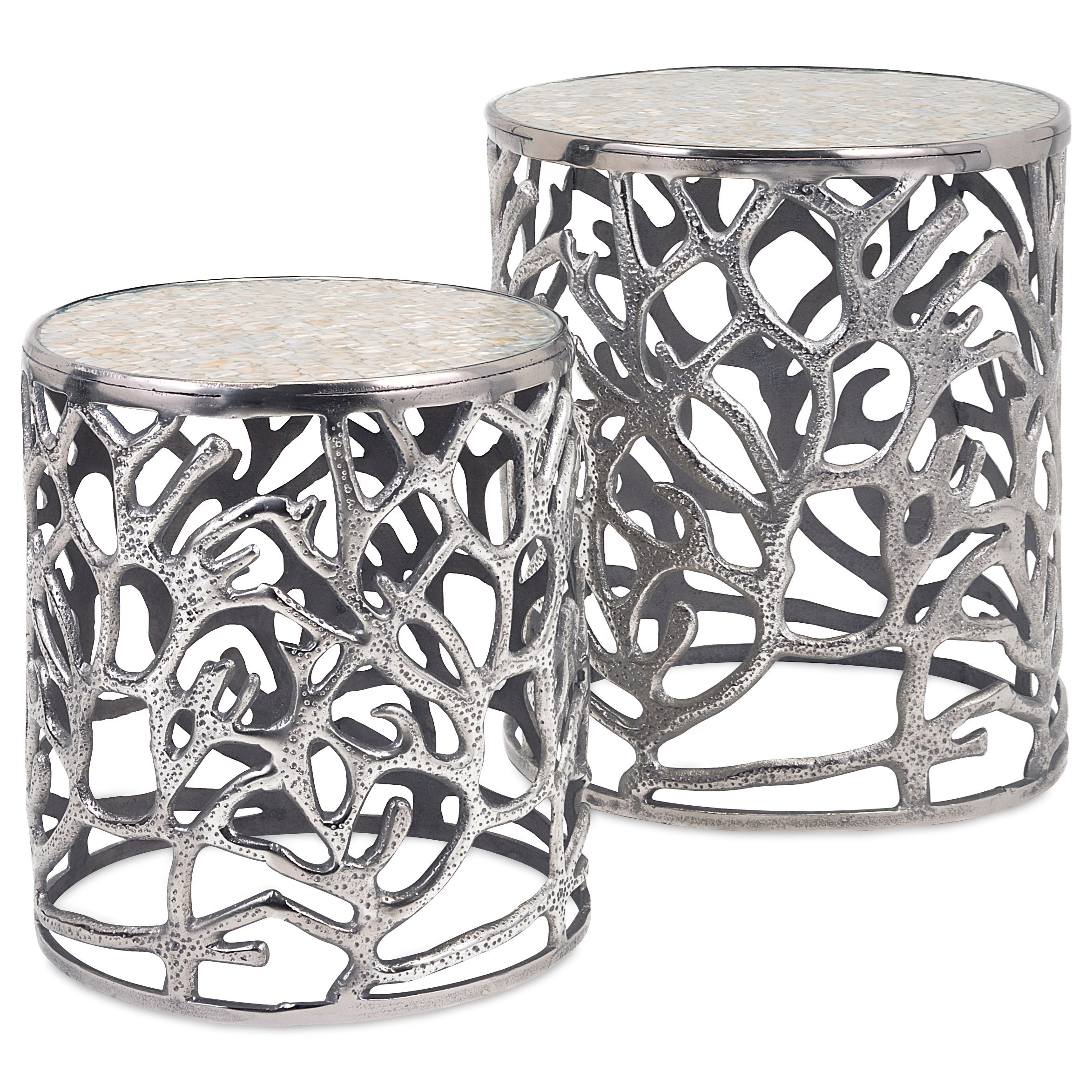 Accent Tables and Cabinets Daltry Coastal Tables - Set of 2 by IMAX Worldwide Home at Alison Craig Home Furnishings