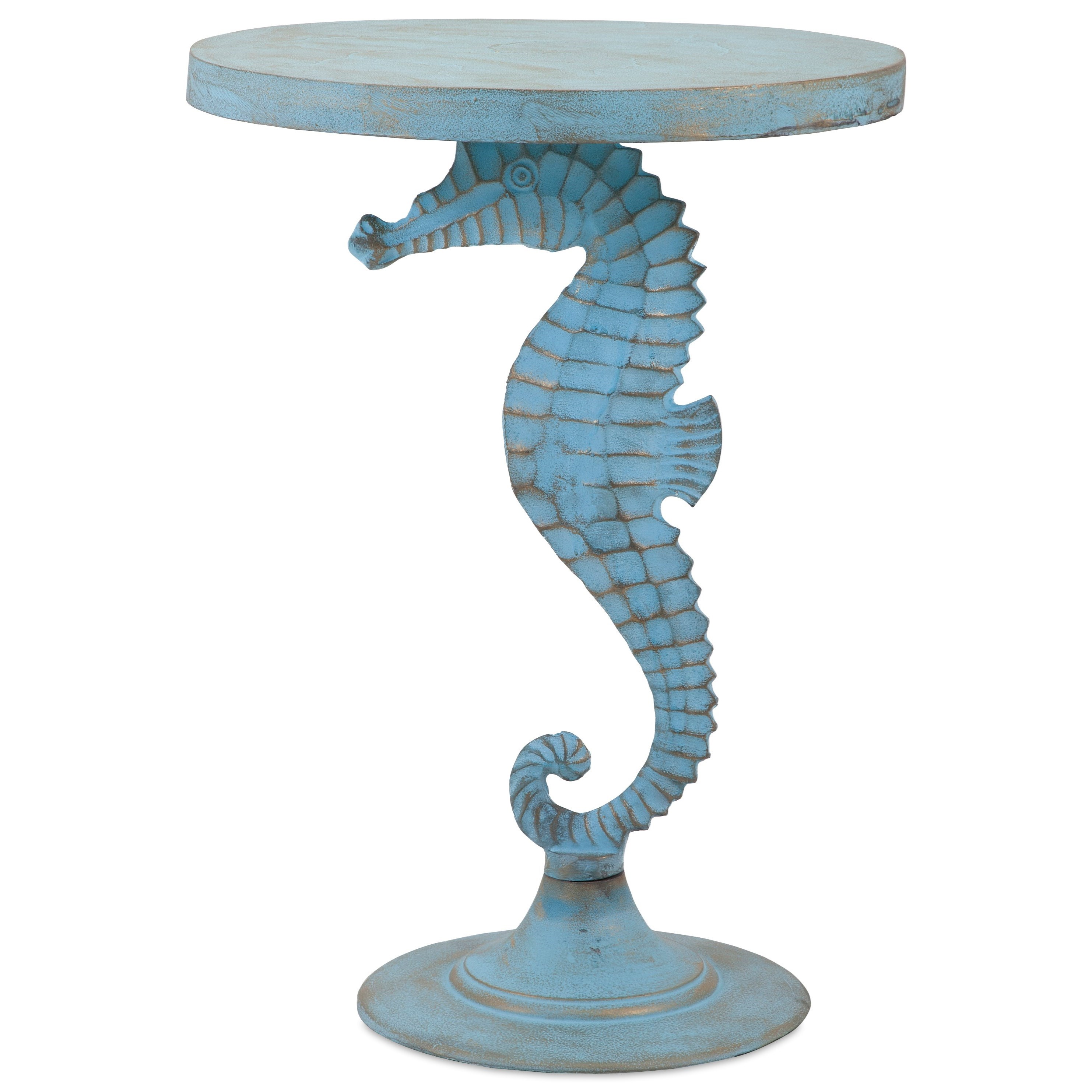 Accent Tables and Cabinets Windsor Sea Horse Table by IMAX Worldwide Home at Alison Craig Home Furnishings