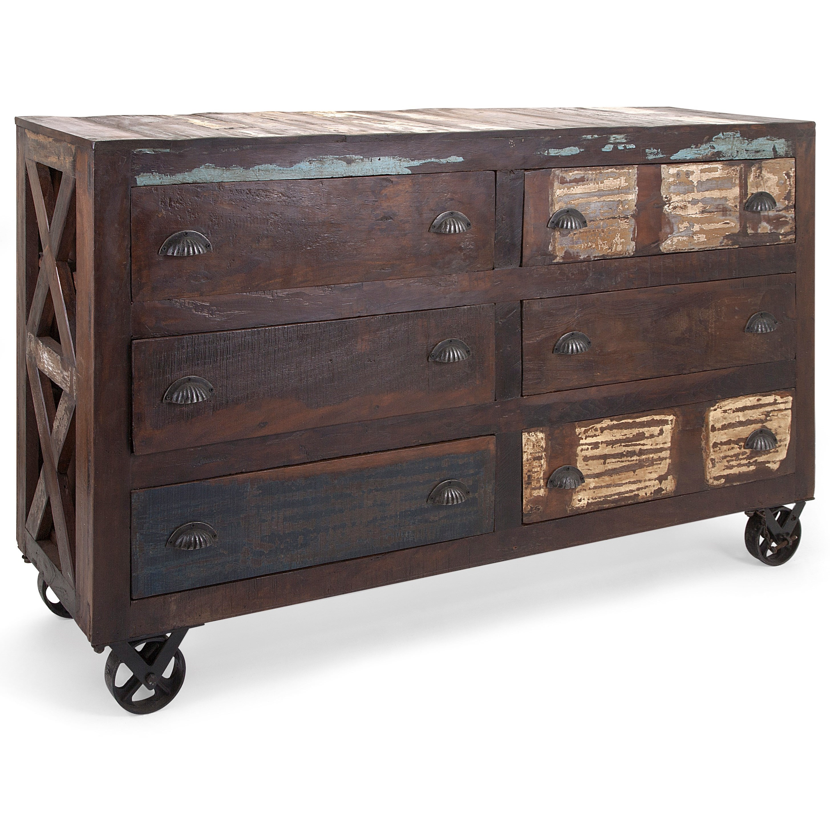 Accent Tables and Cabinets Carron Reclaimed Wood Buffet by IMAX Worldwide Home at Alison Craig Home Furnishings