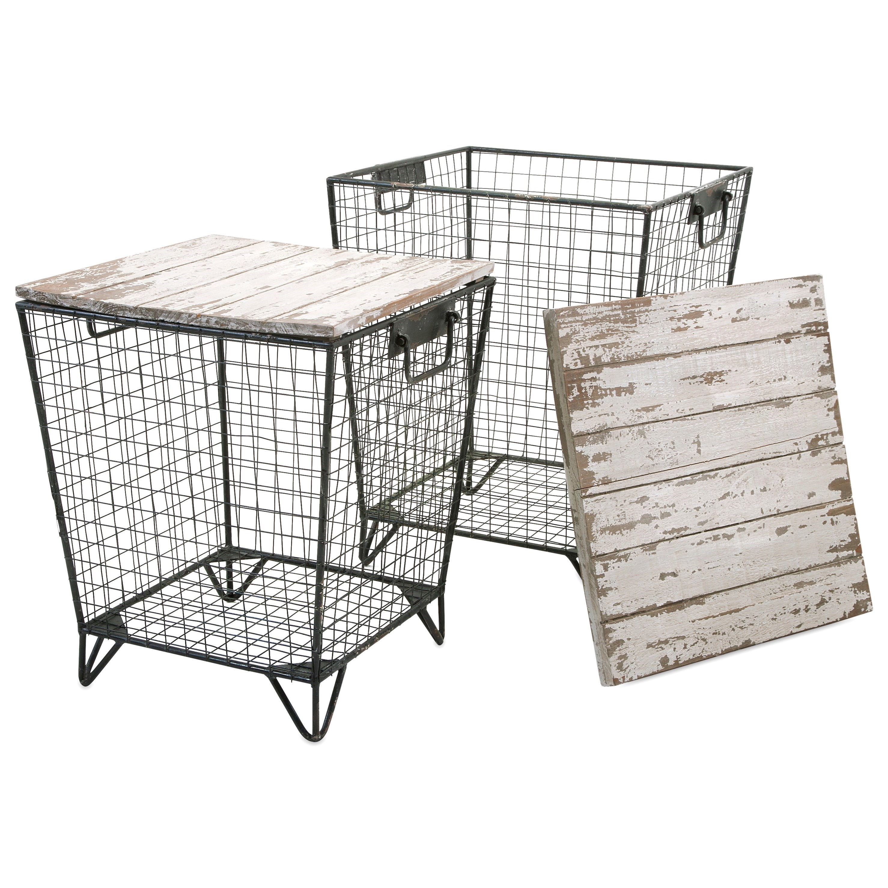Accent Tables and Cabinets Ava Cage Tables - Set of 2 by IMAX Worldwide Home at Alison Craig Home Furnishings
