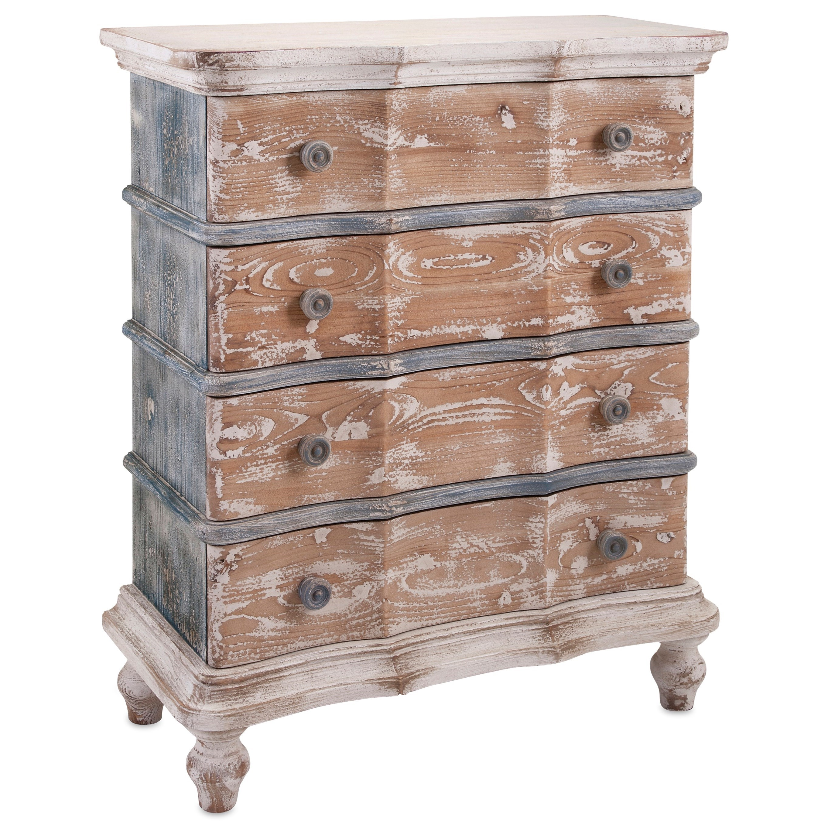 Accent Tables and Cabinets Tansey 4-Drawer Cabinet by IMAX Worldwide Home at Alison Craig Home Furnishings