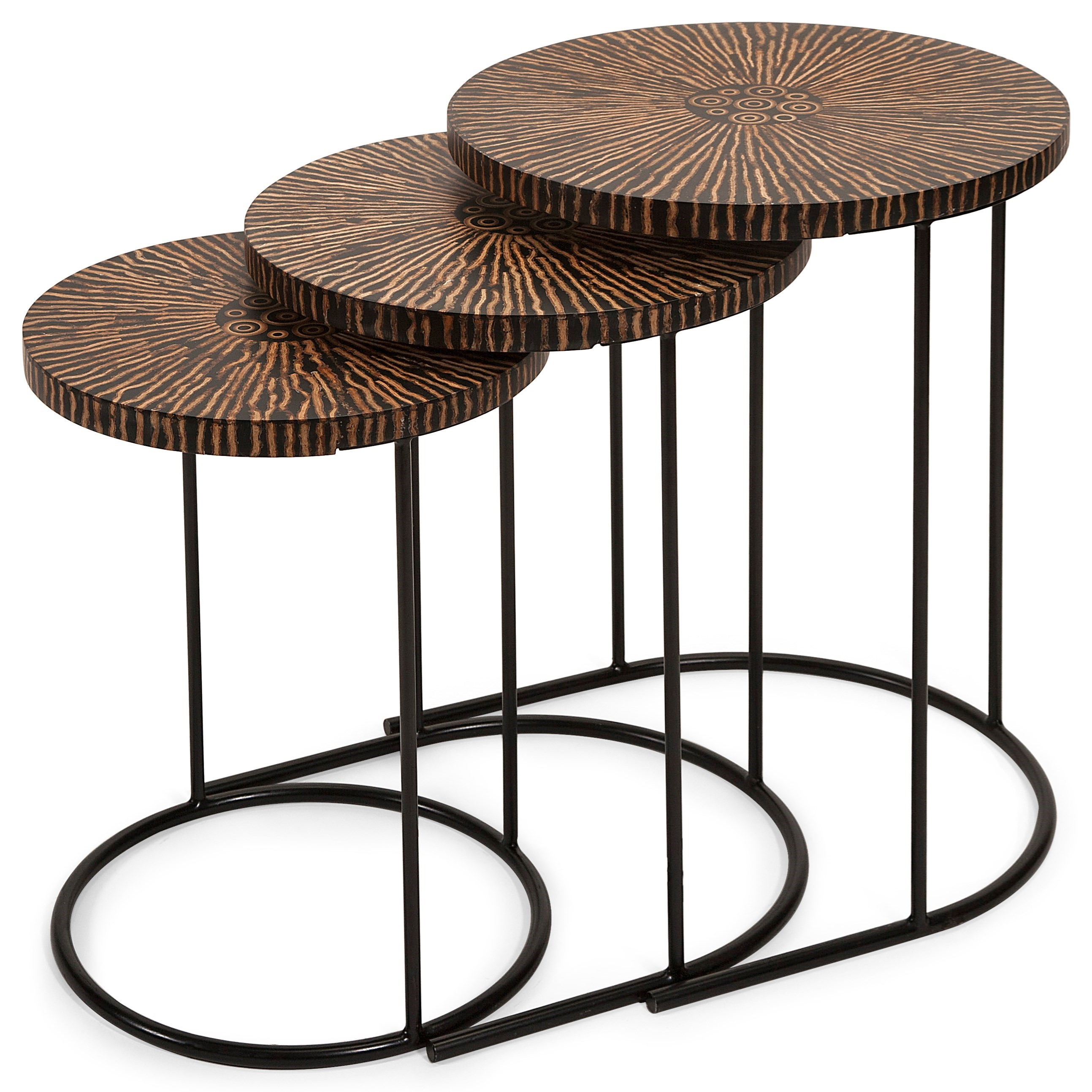 Accent Tables and Cabinets Hoki Coco Shell Tables - Set of 3 by IMAX Worldwide Home at Alison Craig Home Furnishings