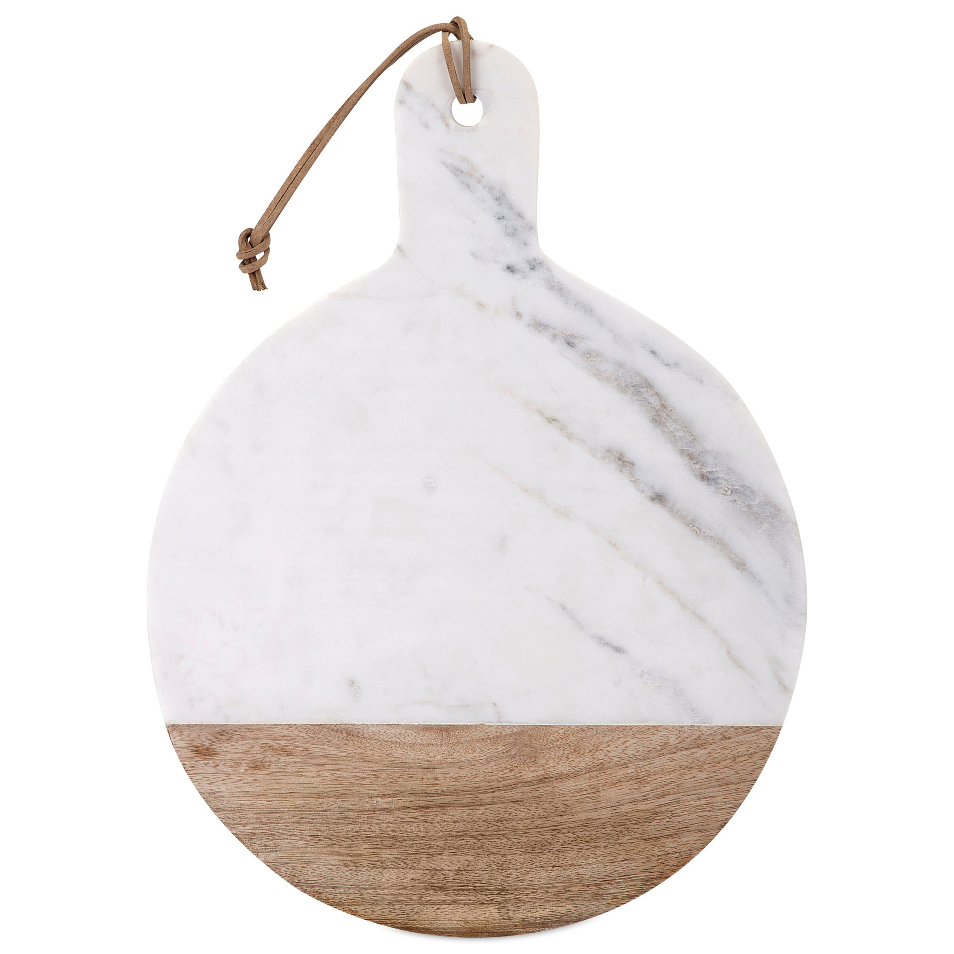 Accessories Peyton Marble and Wood Cheese Board by IMAX Worldwide Home at Alison Craig Home Furnishings
