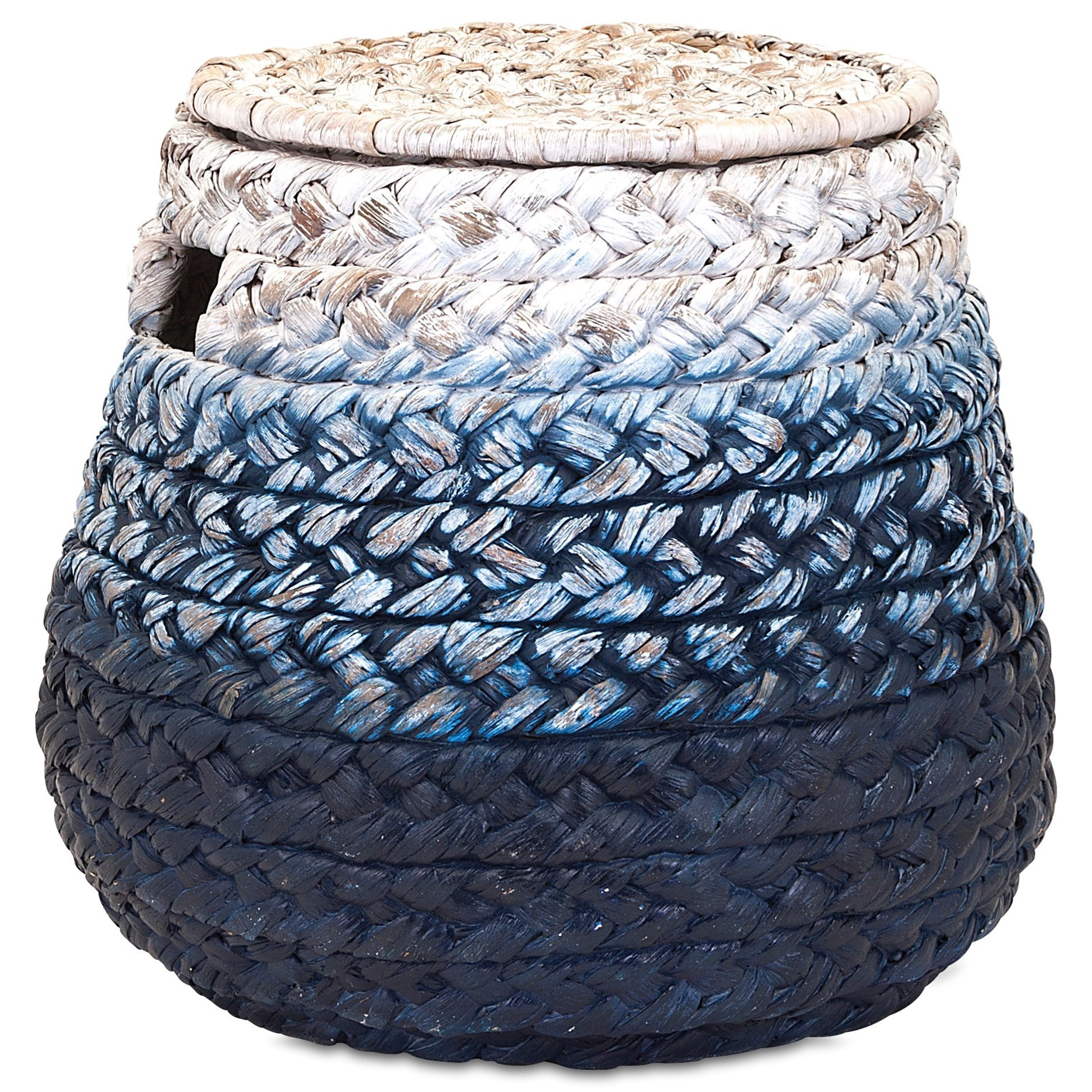 Baskets Cascade Woven Water Hyacinth Basket by IMAX Worldwide Home at Alison Craig Home Furnishings