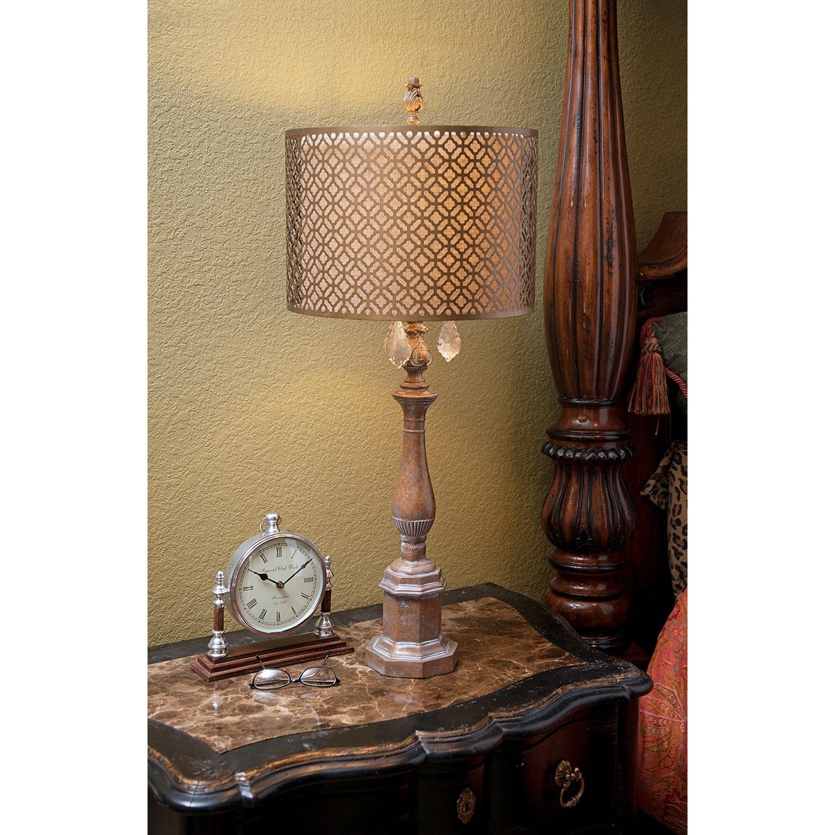Becky Fletcher Savannah Table Lamp with Metal Shade by IMAX Worldwide Home at Alison Craig Home Furnishings