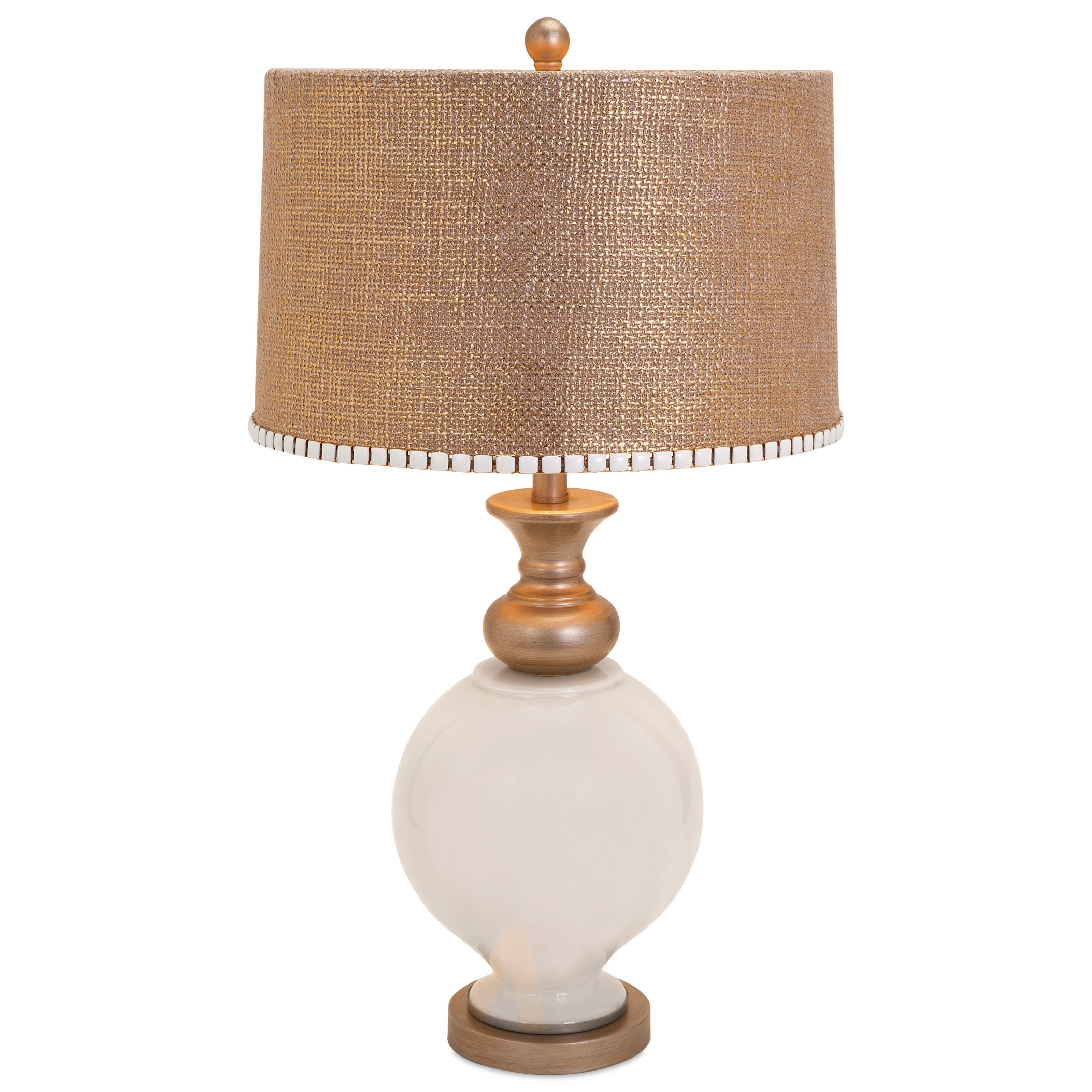 Becky Fletcher Lily Glass Lamp by IMAX Worldwide Home at Alison Craig Home Furnishings