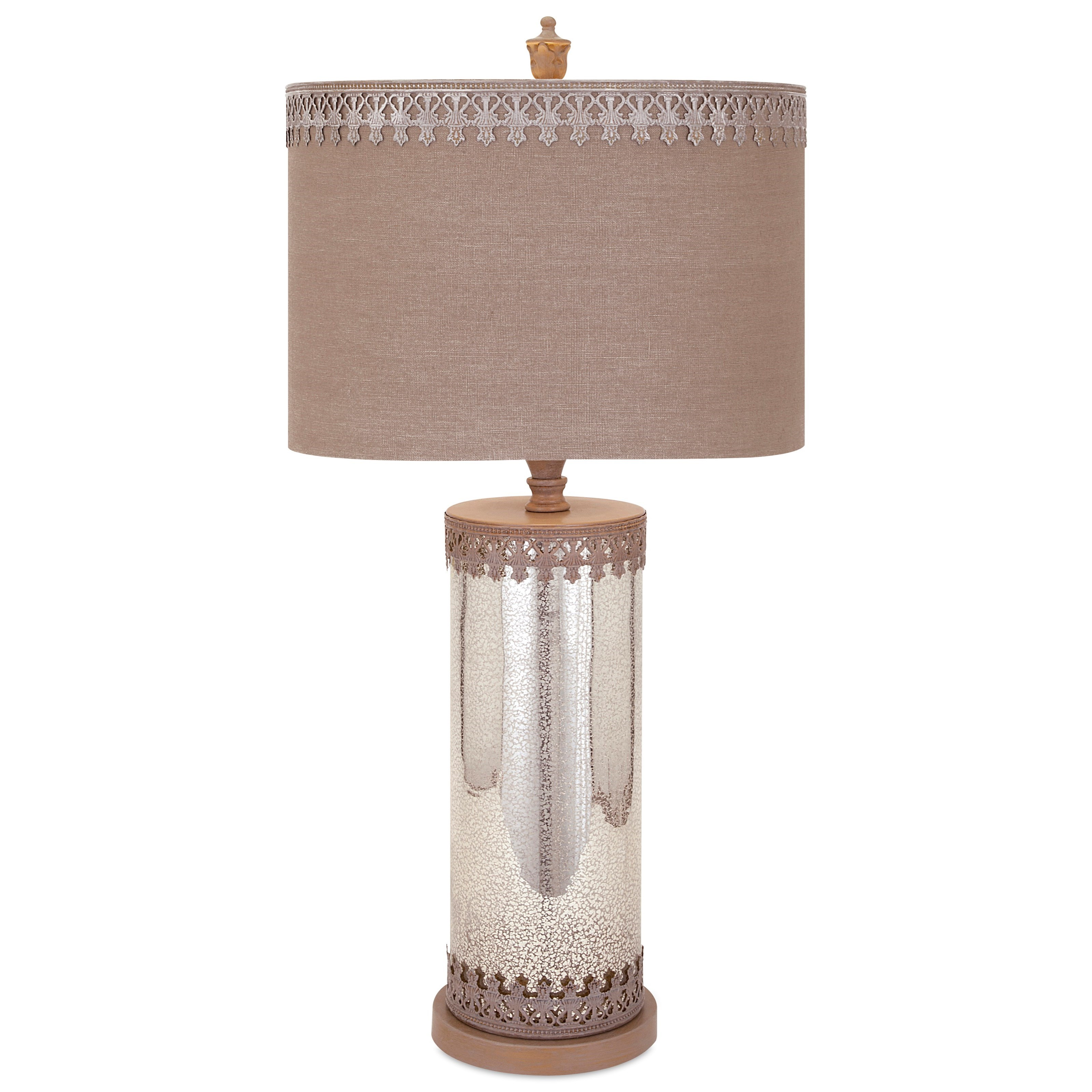 Becky Fletcher Amy Mercury Glass Lamp by IMAX Worldwide Home at Alison Craig Home Furnishings