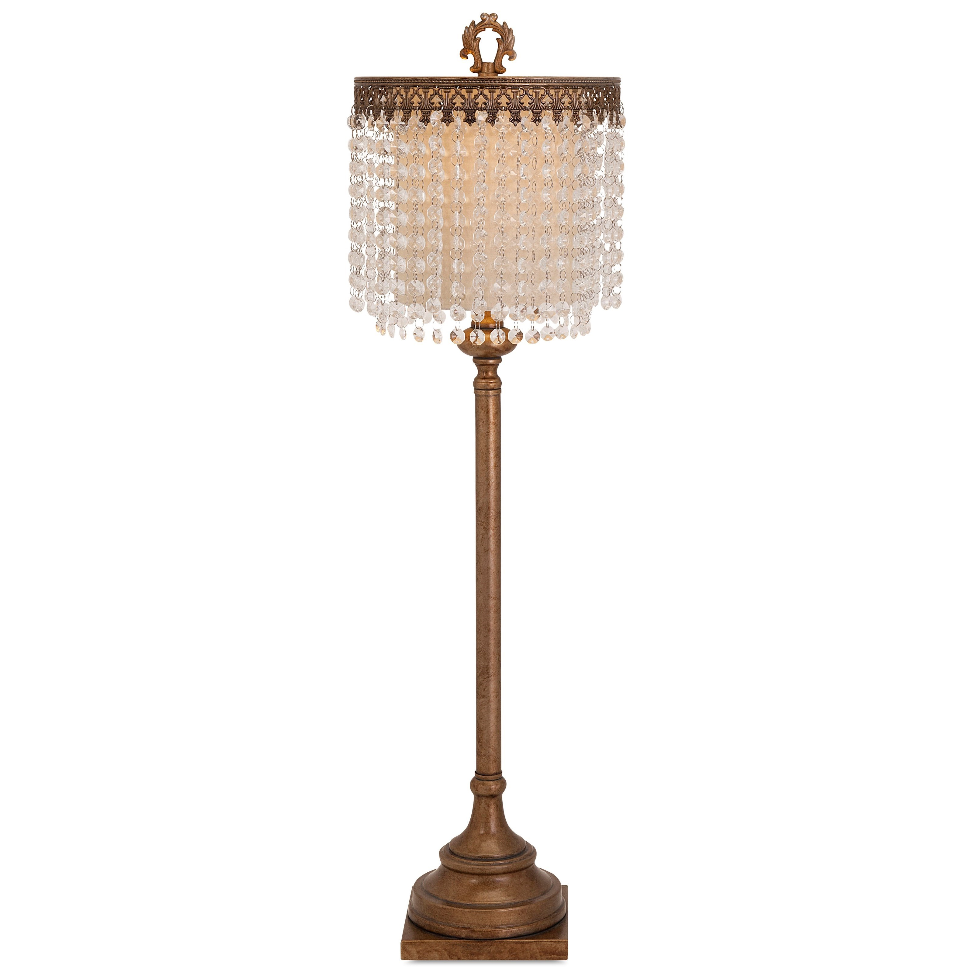 Becky Fletcher Maeveen Crystal Beaded Table Lamp by IMAX Worldwide Home at Alison Craig Home Furnishings