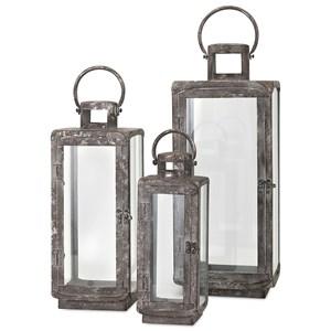 Homestead Metal Lanterns - Set of 3