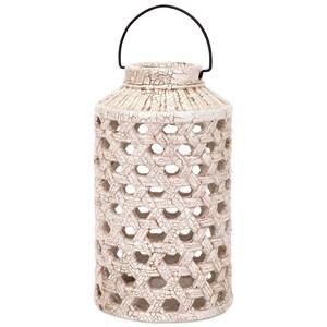 Verandah Large Cutout Ceramic Lantern