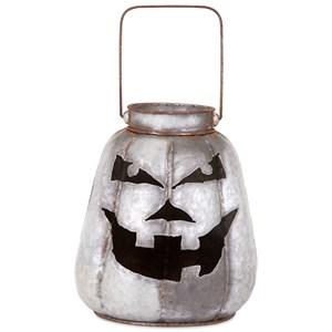 Rocco Galvanized Jack-o'-lantern