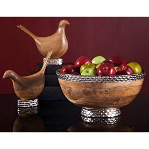 Mango Wood Carved Birds - Set of 2