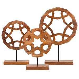 Jansen Wood Carved Sculptures - Set of 3