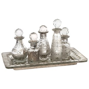 Macaire Mini Bottles with Trays - Set of 6
