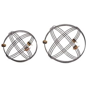 Cowboy Wire Deco Balls - Set of 2
